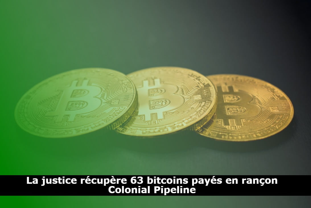La justice récupère 63 bitcoins payés en rançon Colonial Pipeline