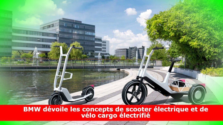 BMW dévoile les concepts de scooter électrique et de vélo cargo électrifié