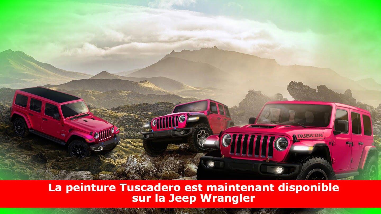La peinture Tuscadero est maintenant disponible sur la Jeep Wrangler