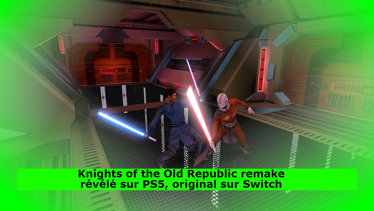 Knights of the Old Republic remake révélé sur PS5, original sur Switch