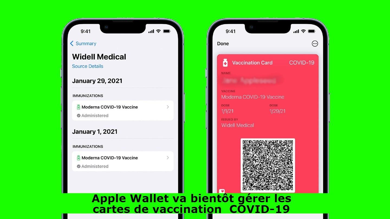 Apple Wallet va bientôt gérer les cartes de vaccination COVID-19