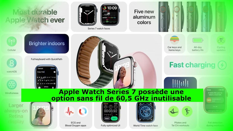 Apple Watch Series 7 possède une option sans fil de 60,5 GHz inutilisable