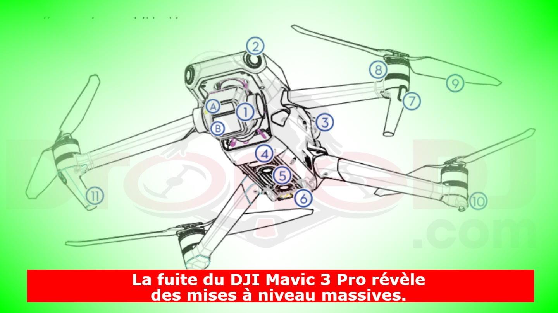 La fuite du DJI Mavic 3 Pro révèle des mises à niveau massives.