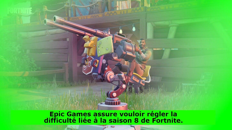 Epic Games assure vouloir régler la difficulté liée à la saison 8 de Fortnite.