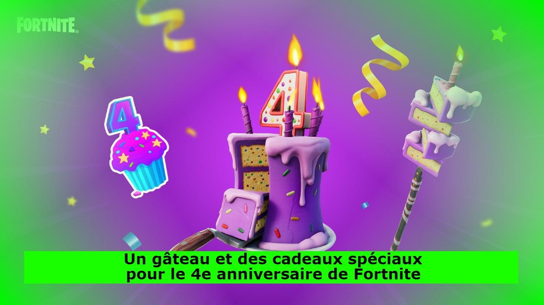 Un gâteau et des cadeaux spéciaux pour le 4e anniversaire de Fortnite