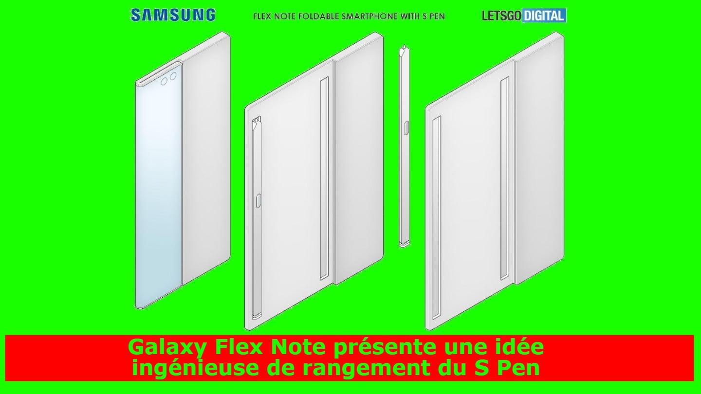 Galaxy Flex Note présente une idée ingénieuse de rangement du S Pen