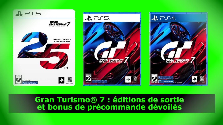 Gran Turismo® 7 : éditions de sortie et bonus de précommande dévoilés