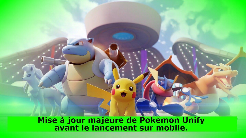 Mise à jour majeure de Pokemon Unify avant le lancement sur mobile.