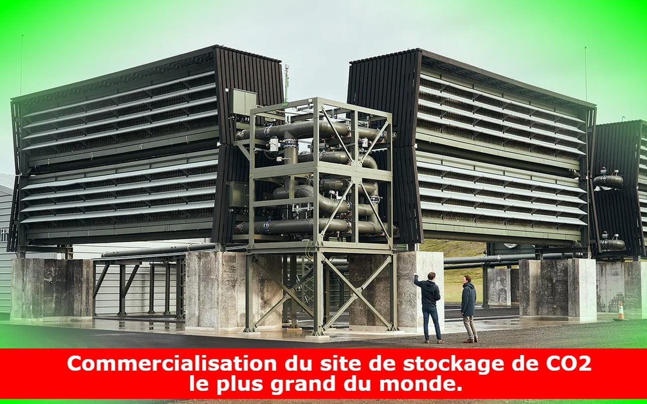 Commercialisation du site de stockage de CO2 le plus grand du monde.
