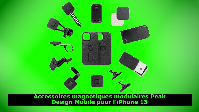 Accessoires magnétiques modulaires Peak Design Mobile pour l'iPhone 13