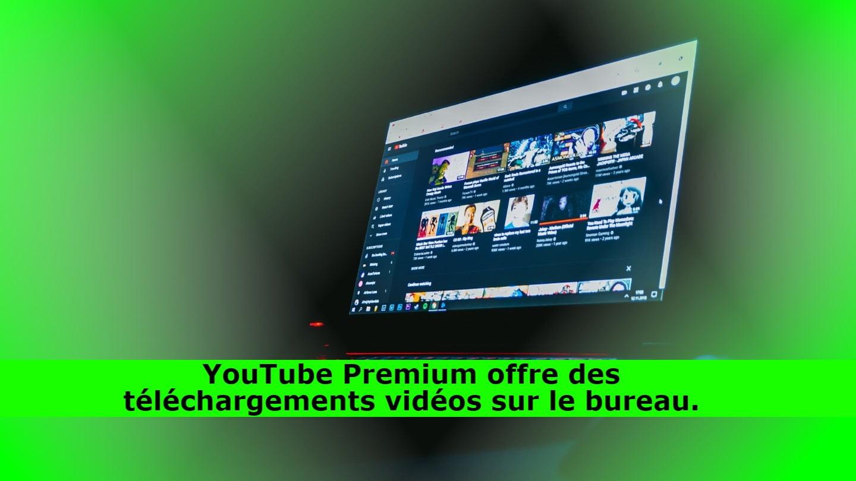 YouTube Premium offre des téléchargements vidéos sur le bureau.