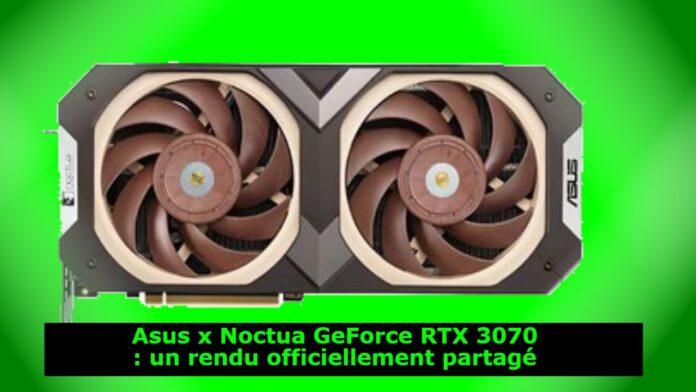Asus x Noctua GeForce RTX 3070 : un rendu officiellement partagé