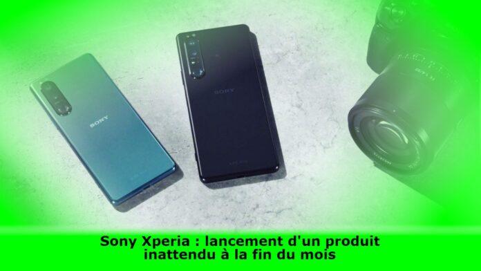 Sony Xperia : lancement d'un produit inattendu à la fin du mois