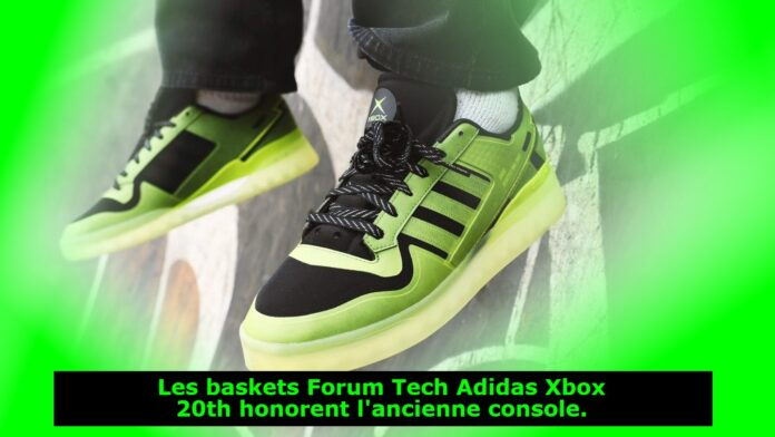 Les baskets Forum Tech Adidas Xbox 20th honorent l'ancienne console.