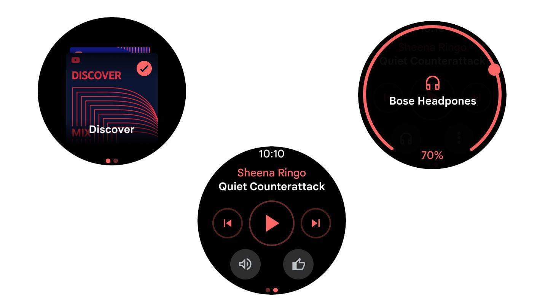 La plate-forme YouTube Music Wear OS 2 est compatible avec le Snapdragon Wear 3100