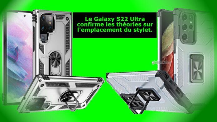 Le Galaxy S22 Ultra confirme les théories sur l'emplacement du stylet.