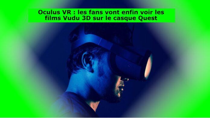 Le service de streaming Vudu de Fandango est actuellement proposé aux propriétaires d'Oculus, à condition d'avoir un casque Pursuit. La plateforme permet aux consommateurs de louer et d'acquérir des films électroniques, puis de les visionner sur toute une série d'outils - et les Oculus Mission et Quest 2 en font désormais partie. C'est une excellente nouvelle pour les propriétaires de casques qui aiment les films en 3D. Vudu, la société que Fandango a rachetée à Walmart, utilise un mélange de contenus, dont certains sont totalement gratuits et d'autres payants. Le système est très apprécié de ceux qui préfèrent acquérir des films numériques plutôt que de les regarder en streaming. Il est intéressant de noter que Vudu propose quelques centaines de titres de films en 3D. Il ne fait aucun doute que le visionnage de films en 3D sur un casque de réalité virtuelle offrira le même type d'expérience immersive que celle que l'on obtient en regardant des films en 3D au cinéma, mais pas avec le même niveau de qualité. Quoi qu'il en soit, le visionnage de films sur un casque de réalité virtuelle offre une expérience personnelle et agréable dans son propre théâtre. Vudu n'est qu'une des solutions, de plus en plus nombreuses, qui prennent en charge les casques Oculus, comme Amazon.com Prime Video, Netflix et YouTube. Les casques Oculus Mission prennent également en charge le matériel de diffusion à l'aide d'un Chromecast pour diverses autres demandes de divertissement. Pour ce qui est de Vudu, la société indique qu'elle dispose de plus de 200 000 titres, dont certains sont compatibles avec la technologie 4K UHD et Dolby Vision. Les personnes qui souhaitent vivre l'expérience unique de regarder des films sur un casque de réalité virtuelle sans investir de l'argent pour le matériel peuvent trouver des offres totalement gratuites dans la section