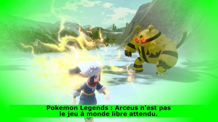 Pokemon Legends : Arceus n'est pas le jeu à monde libre attendu.