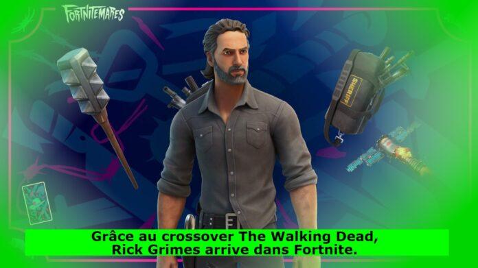 Grâce au crossover The Walking Dead, Rick Grimes arrive dans Fortnite.